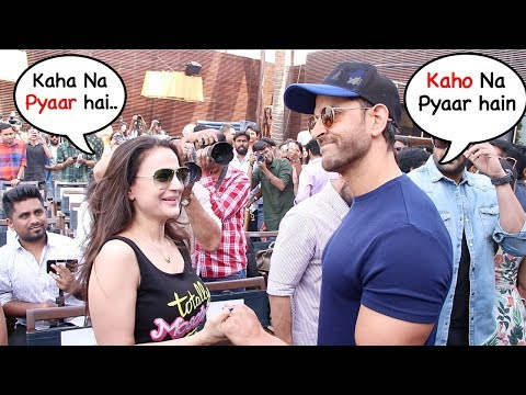 Hrithik Roshan Meets Ex-Gf Amesha Patel 20yrs After Kaho Na Pyaar Hai..Wht Happns Nxt Will Melt U