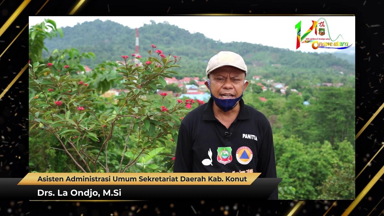 Ucapan HUT Ke-14 Kabupaten Konawe Utara Drs. La Ondjo, M.Si