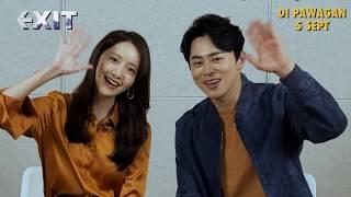 EXIT (엑시트) Jo Jung Suk & YoonA Greetings to Malaysian Fans