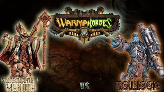 Warmachine & Hordes - Menoth (E-Severius) vs. Trollbloods (Gunnbjorn) - 50pt Battle Report