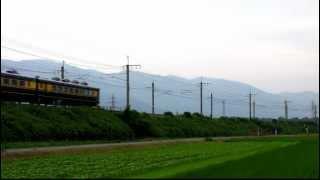 2012/7/25、湖西線、マキノ~近江中庄にて。欧亜国際連絡列車100周年...