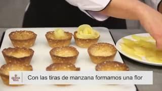 Tartaletas de manzana y copos de Quinua Real