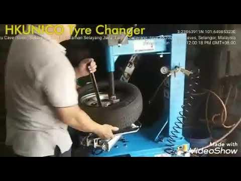 "HKUNICO | H506 | 20"" Semi-Automatic Tyre Changer"
