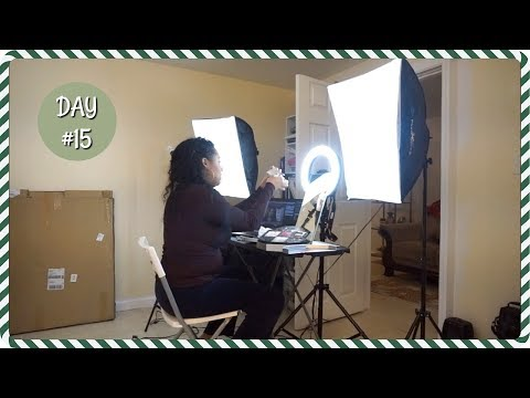 HOW I FILM MY BEAUTY VIDEOS VLOG | VLOGMAS DAY 15