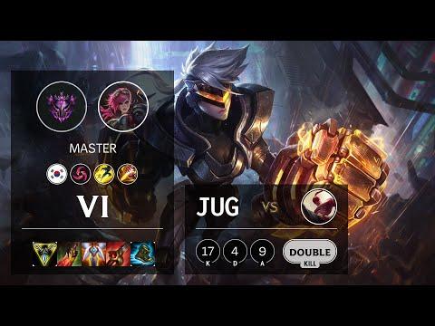 Vi Jungle vs Lee Sin - KR Master Patch 10.14
