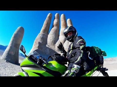 MM - Pt. 06 - Antofagasta/La Mano del Desierto/Atacama (Chile) - Viagem de Ninja 300 até o Chile