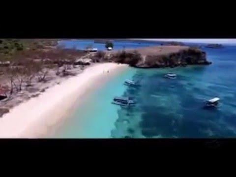 tourism destination -  pink beach lombok -  indonesia