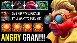 ANGRY GRANDMA Crazy Physical Burst DMG Snapfire Even LC Can't Duel 1v1 IMBA 7.23 Hero DotA 2