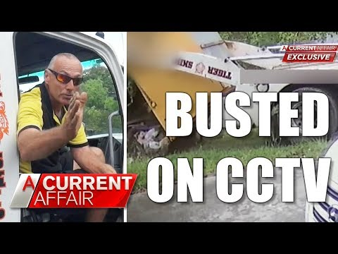 Garbage man busted dumping on lawn | A Current Affair Australia