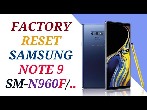 HARD RESET SAMSUNG GALAXY NOTE 9 SM-N960F / FACTORY RESET NOTE 9