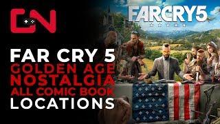 Far Cry 5 Golden Age Nostalgia Comic book collectable Quest