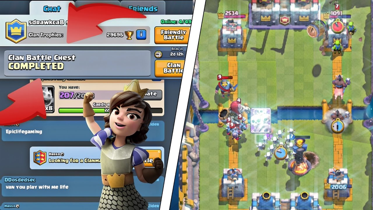 """Clash Royale - FINISHING CLAN BATTLE CHEST IN HOURS! """"HILARIOUS CLAN BATTLES!"""""""