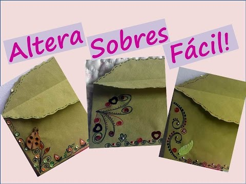 Tutorial Sobres De Manila Alterados Mail Art C Mo