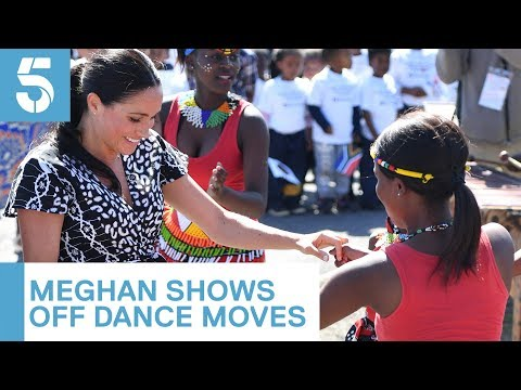 Meghan Markle and Prince Harry dance in Cape Town | 5 News