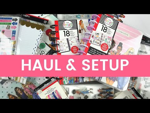 The Happy Planner RONGRONG HAUL flip through and SETUP