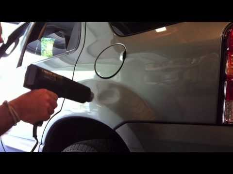 Paintless Dent Repair Using a Heat Gun and a Can of Compressed Gas Duster