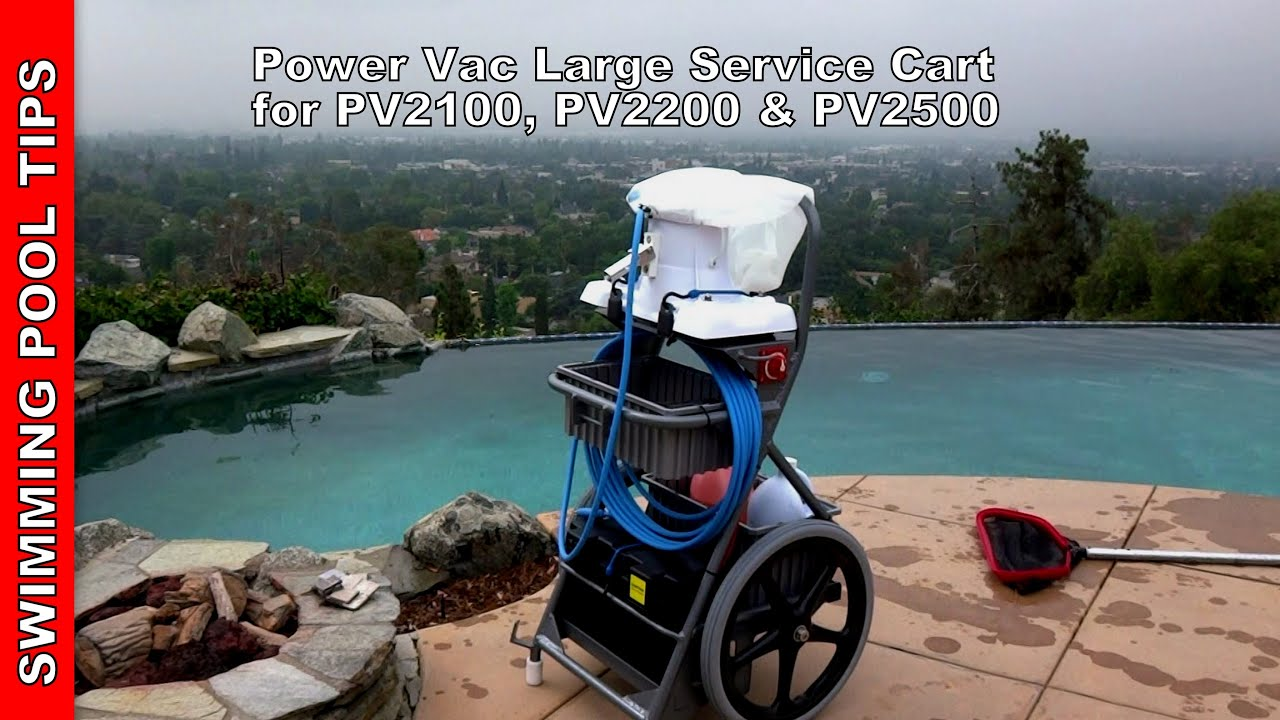 Power Vac Large Service Cart For Pv2100 Pv220 Pv2500 Vacuum Youtube
