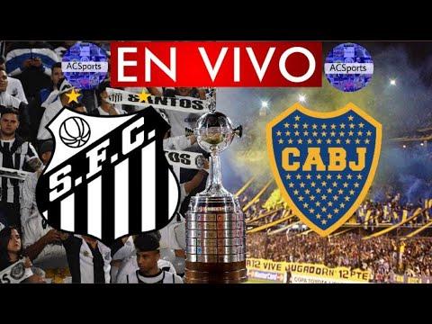 SANTOS VS BOCA JUNIORS (EN VIVO) COPA CONMEBOL LIBERTADORES - FECHA 4 / GRUPO C