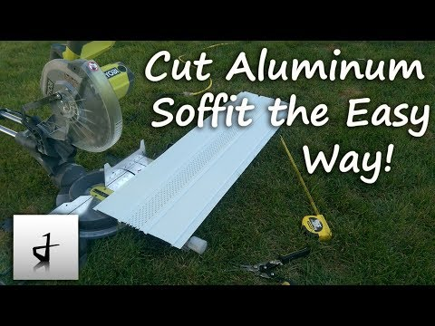 Save Time Installing Soffit and Fascia! Cut it the Easy Way!