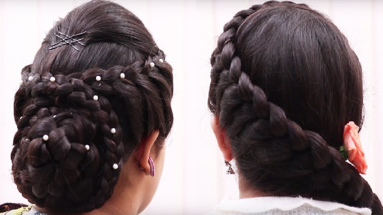 how to make hair puff style 5 easy amp best hairstyle for hair bun hairstyle 3440