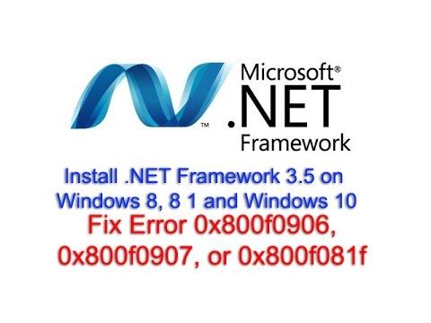 Install.NET Framework 3.5 on Windows 8, 8 1 and Windows 10