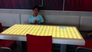 Light up table at  mc donalds