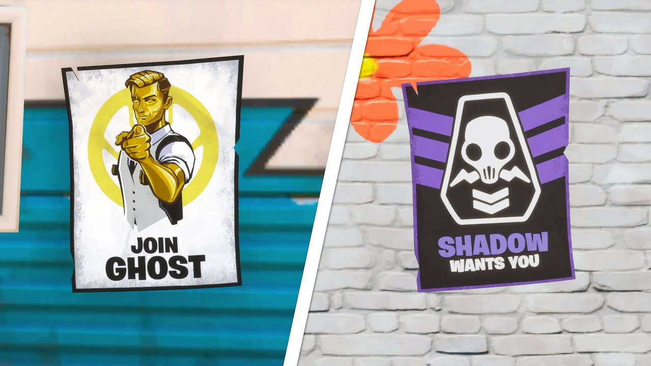 Deface Ghost Or Shadow Posters All Locations Fortnite Week 6 Deadpool Challenge Youtube