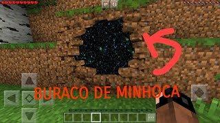 ENCONTREI UM BURACO DE MINHOCA no MINECRAFT PE!!!