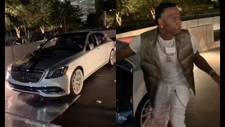 MoneyBagg Yo Is Flabbergasted After Girlfriend Ari Bought Him A Maybach For His Birthday