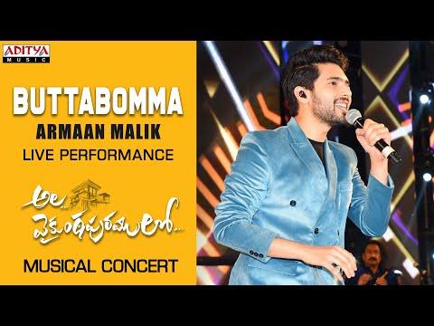 butta-bomma-song-live-performance-by-armaan-malik-@-#alavaikunthapurramuloo-musical-concert