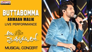 Gambar cover Butta Bomma Song Live Performance By Armaan Malik @ #AlaVaikunthapurramuloo Musical Concert