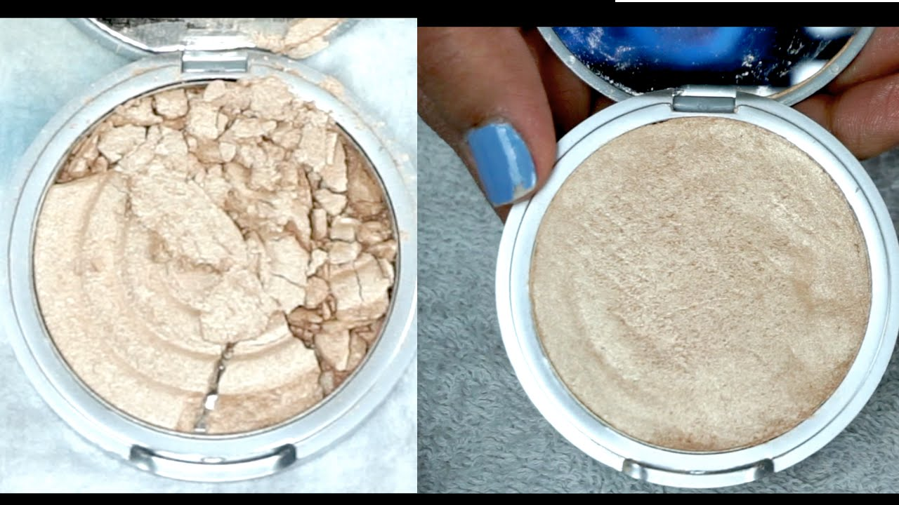How to fix broken powder makeup with alcohol in four simple steps -  Powder Makeup Taos Highlighter How To Fix Broken Makeup With Rubbing Alcohol Easy Simple Manisha Moments