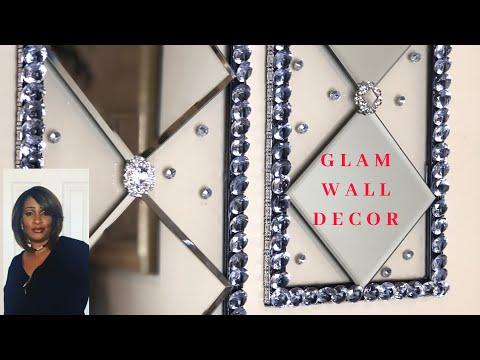 Glam Dollar Tree Wall Decor | DIY Home Decorating Ideas