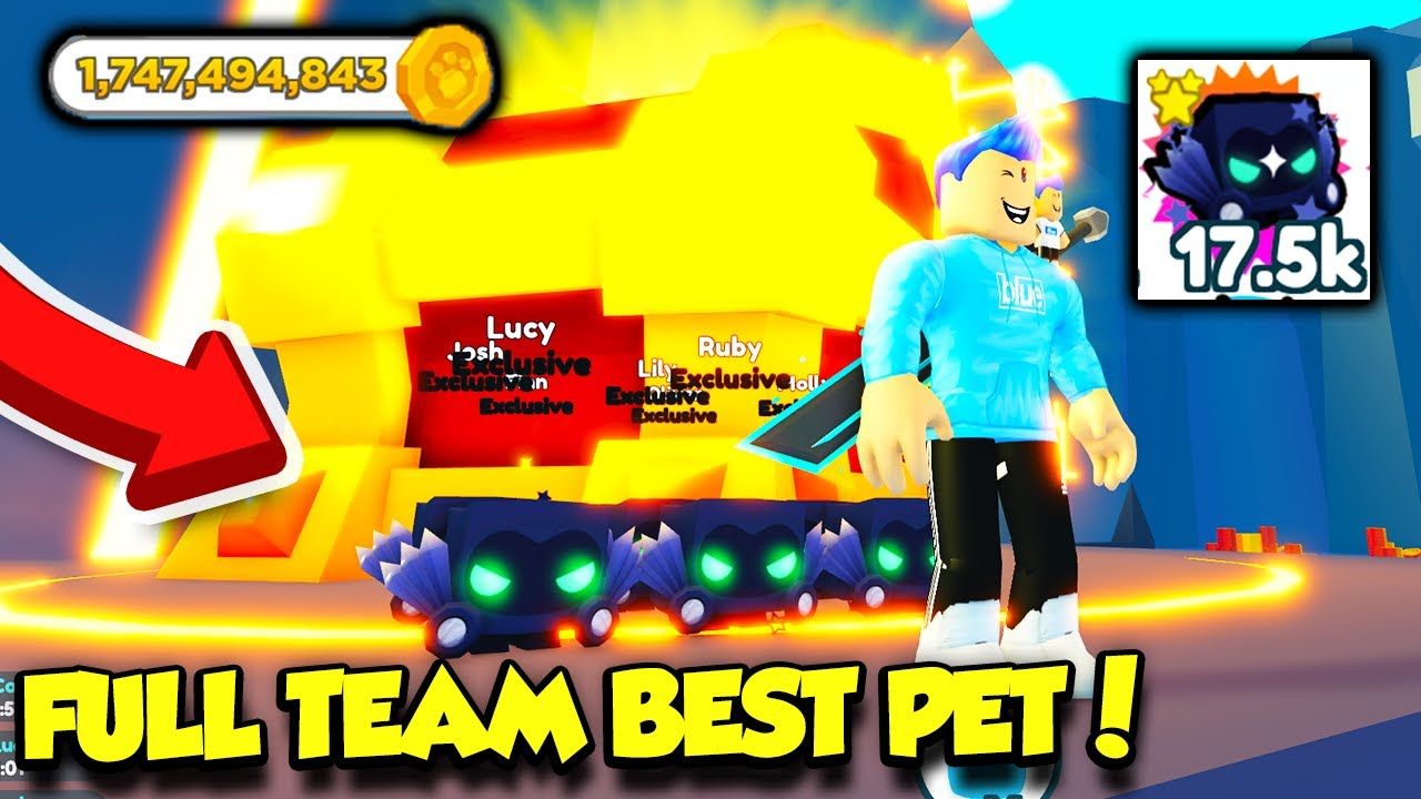 I Got A FULL TEAM Of The BEST ROBUX PET In Pet Simulator X And Made ONE BILLION COINS!! (Roblox)