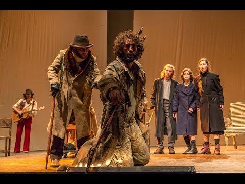 Eracle con gli allievi del Master della Scuola di Recitazione Teatro Stabile di Genova