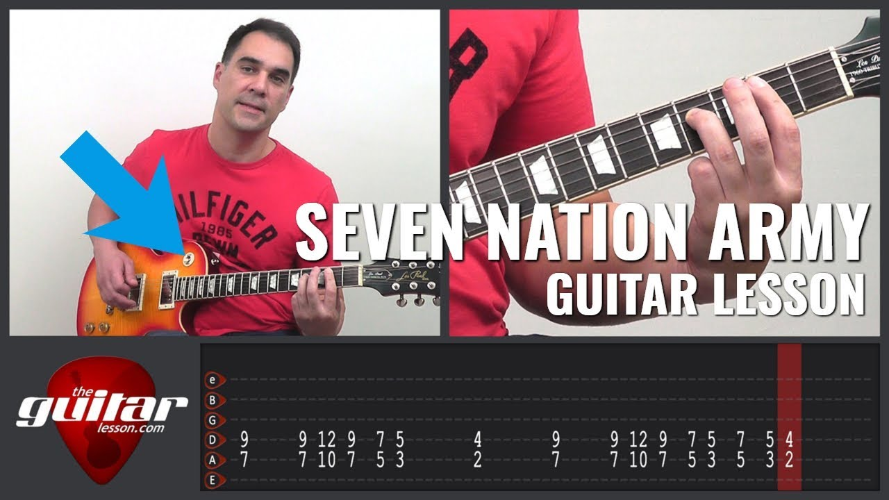 seven nation army electric guitar lesson great for beginners the white stripes youtube. Black Bedroom Furniture Sets. Home Design Ideas