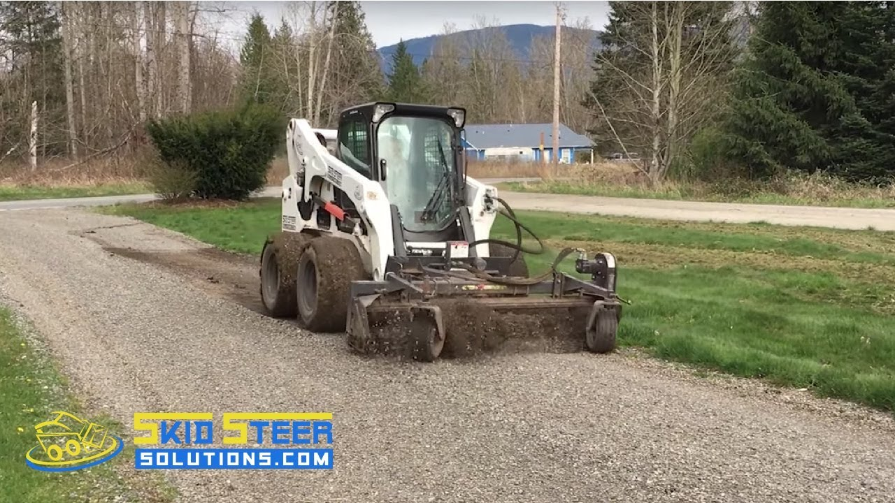 Resurfacing a Gravel Road with a Harley Rake M7 Skid Steer Attachment