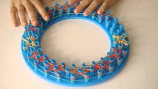 Плетение на круглом станке браслета