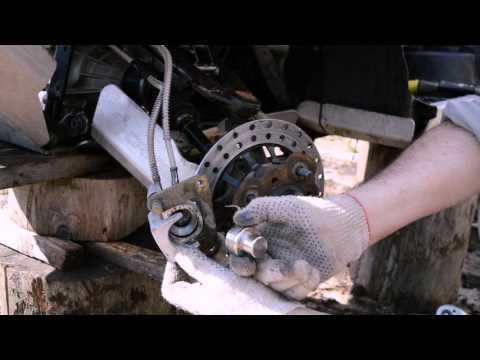 Замена колодок и прокачка тормозов на квадроцикле CFMOTO 500