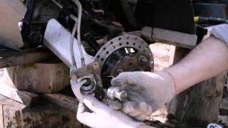 замена колодок дискового тормоза на квадроцикле CFMOTO X6