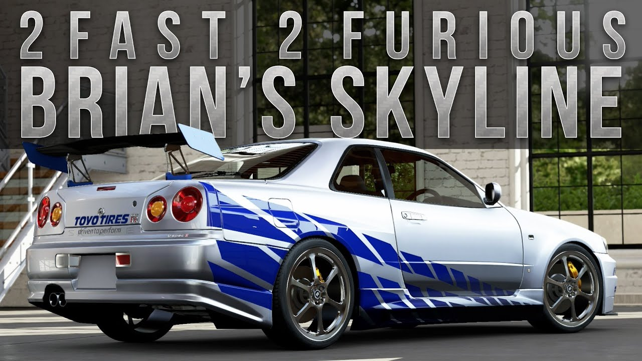 forza 5 fast furious car build brians r34 skyline youtube - Fast And Furious Cars Skyline