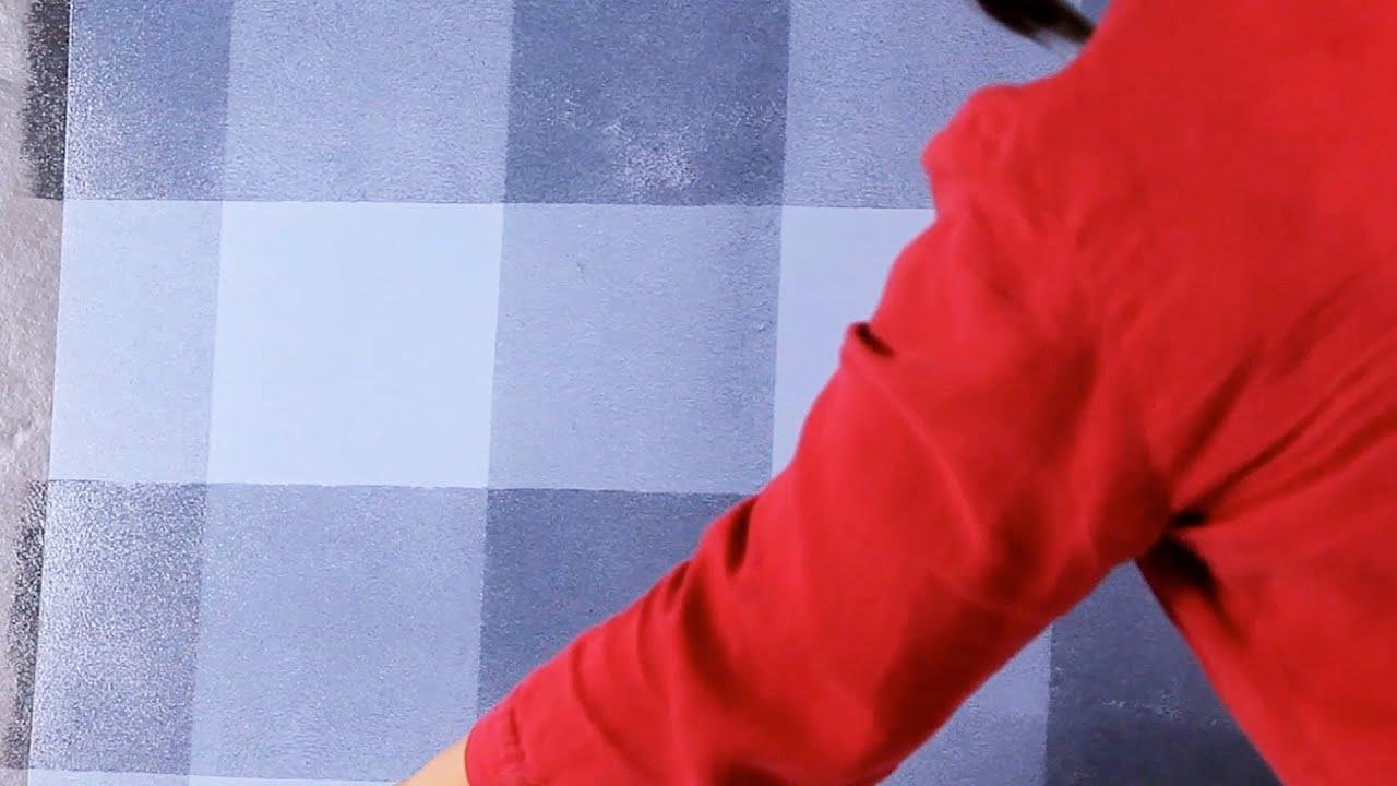 Wall painting techniques stripes - How To Paint Horizontal Plaid Stripes Paint Techniques