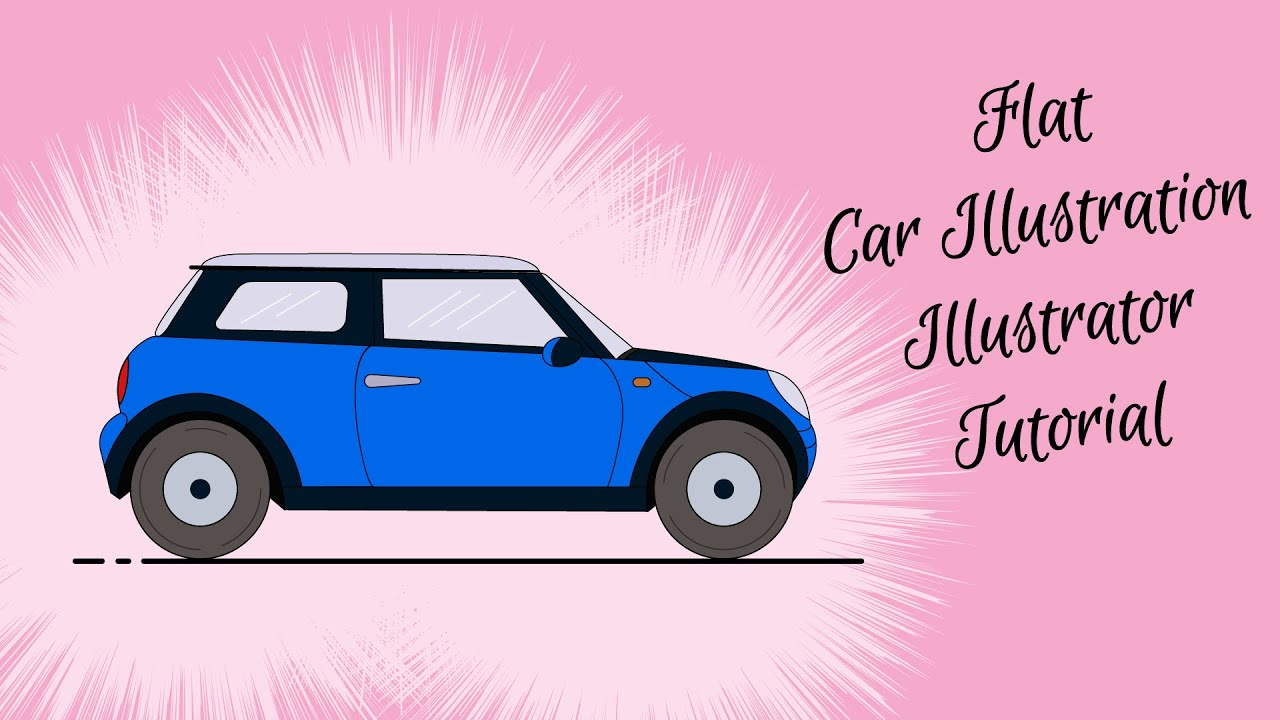 Bmw Mini Cooper >> Illustrator Tutorial | Car Illustration From A Sketch - YouTube
