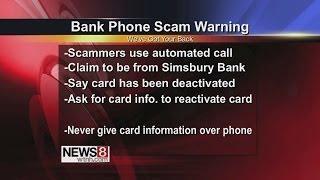 Bank Phone Scam Warning