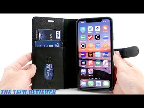 best service ca031 c47ae Uunique 2 in 1 Leather Wallet Folio for iPhone Xs Max: Drop ...