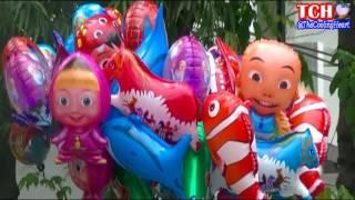 Balonku Ada Lima - Mainan Anak-anak Balon Karakter Pokemon, Masha, Boboiboy, Ipin Upin etc