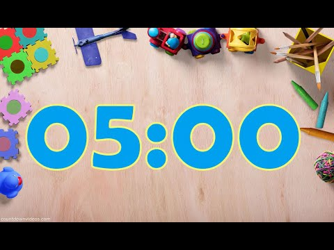 5 Minute Clean up Fun Music with Countdown for Kids in HD!