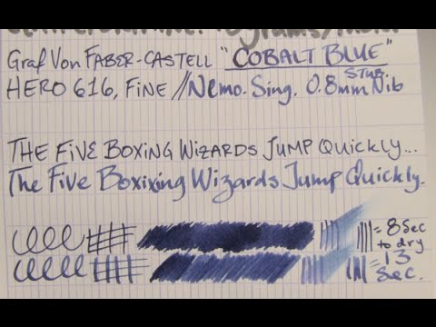 Ink Review: Graf Von Faber-Castell Cobalt Blue Ink