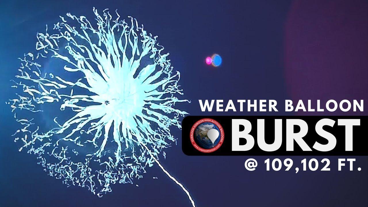 Weather Balloon Burst | OLHZN-8 High Altitude Balloon | Balloon Facing  GoPro Camera