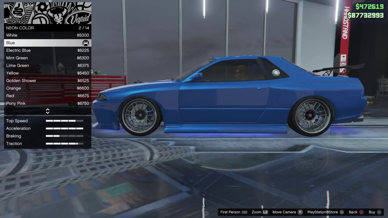 Gta5 Online Brian S Blue Skyline Custom Car Build From
